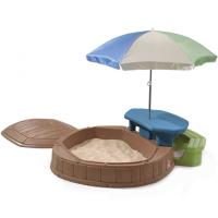 Bērnu smilšu kaste ar vāku un lietussargu Step2 Summertime Multi krāsa 169 x 144.8 x 177.7cm