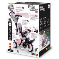 Trīsriteņu velosipēds Smoby Baby Driver Comfort Rozā 68 x 52 x 101cm