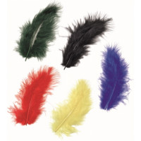Knorr Prandell Dekoratīvas marabu spalvas 9cm, asorti, 15gab.