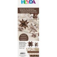 Heyda Origami papīra lentītes 30-45cm, brūnas, 96gab.