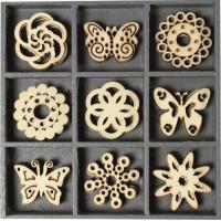Knorr Prandell Koka ornamentu komplekts Butterflies-Ornaments, 45gab.