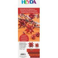 Heyda Origami papīra lentītes 30-45cm, sarkanas 1, 96gab.
