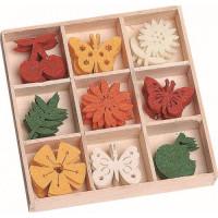 Knorr Prandell Filca ornamentu komplekts Fruit-Butterflies-Flowers, 45gab.