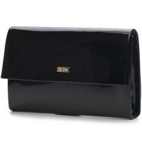 Teātra somiņa Clutch Felice F13 Melna Shiny 24 x 4 x 15cm