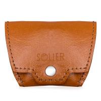 Vīriešu maks sīknaudai Solier SA10 gaiši brūns 7 x 8.5cm